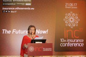Θεσμικός Χαιρετισμός:  Ευγενία Καφφετζή, Εκπρόσωπος, Σύνδεσμος Ελλήνων Μεσιτών Ασφαλίσεων (ΣΕΜΑ) & Διευθύνουσα Σύμβουλος, Globalnet Insurance Brokers