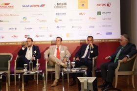 Panel I: «Η ασφάλιση στην πραγματική οικονομία» -  Πάρις Παπαβασιλείου, Κωνσταντίνος Λιακόπουλος, Προκόπης Καρυδάκης, Συντονιστής: Χρήστος Κώνστας