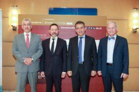 Οι κ.κ. Κωνσταντίνος Ουζούνης, Γενικός Διευθυντής, Ethos Media S.A., Γιάννης Στουρνάρας, Διοικητής, Τράπεζα της Ελλάδος, Ιωάννης Βρούτσης, Βουλευτής Κυκλάδων, Τομεάρχης Εργασίας, Κοινωνικής Ασφάλισης & Κοινωνικής Αλληλεγγύης Ν.Δ., τ. Υπουργός Εργασίας, Κοινωνικής Ασφάλισης και Πρόνοιας, Χρήστος Γεωργακόπουλος, Ιδρυτής και Διευθύνων Σύμβουλος, Α.Ε.Γ.Α. Ευρωπαϊκή Πίστη